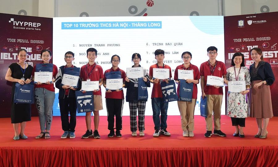 Học sinhHà Nội - Thăng Long vào Top 10- Top 30 IELTS QUEST 2021