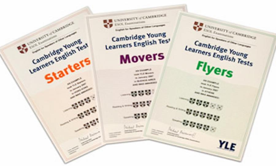 Kết Quả thi chứng chỉ Quốc tế CAMBRIDGE YOUNG LEARNERS