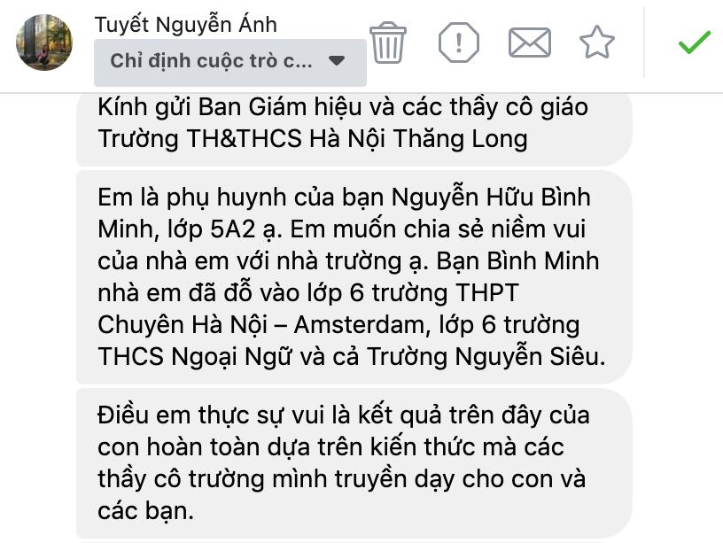 """Món """"quà"""" lớn nhất phụ huynh dành tặng tập thể Giáo viên, Nhân viên trường Hà Nội Thăng Long"""